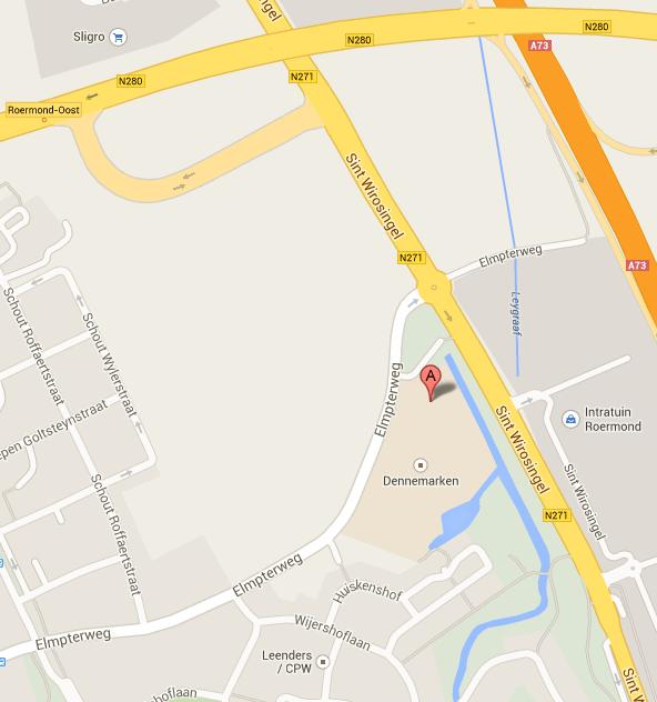 Kaart Roermond